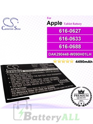 CS-IPA144SL For Apple iPad Tablet Battery Model 616-0627 / 616-0633 / 616-0688 / DAK290448-W090H01LH