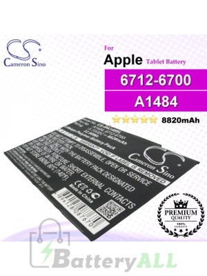 CS-IPA148SL For Apple iPad Tablet Battery Model 6712-6700 / A1484