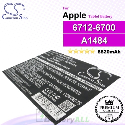 CS-IPA148SL For Apple iPad Tablet Battery Model 6712-6700 / A1484