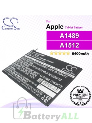 CS-IPA149SL For Apple iPad Tablet Battery Model A1489 / A1512