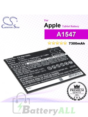 CS-IPA156SL For Apple iPad Tablet Battery Model A1547