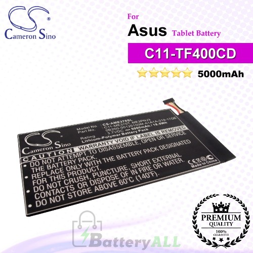 CS-AME370SL For Asus Tablet Battery Model C11-ME301T / C11-TF400CD / C21-TF400CD