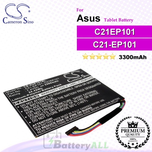 CS-AUF101SL For Asus Tablet Battery Model C21EP101 / C21-EP101 / C22-EP101