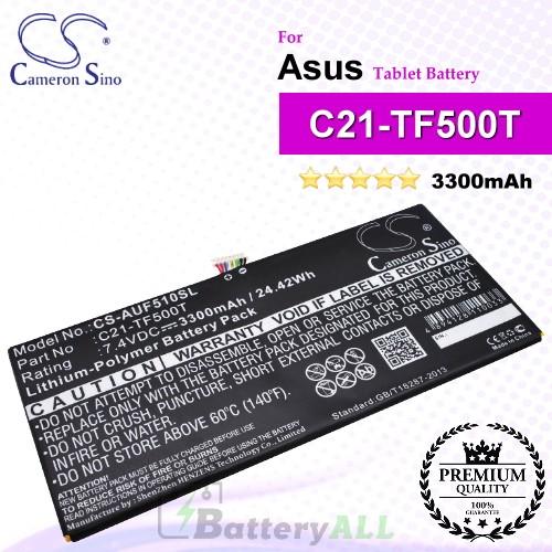 CS-AUF510SL For Asus Tablet Battery Model C21-TF500T