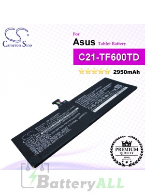 CS-AUF600SL For Asus Tablet Battery Model C21-TF600TD