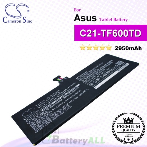 CS-AUF600SL For Asus Tablet Battery Model C21-TF600TD