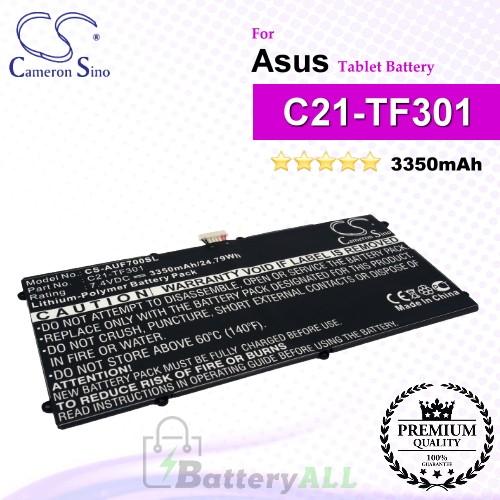 CS-AUF700SL For Asus Tablet Battery Model C21-TF301