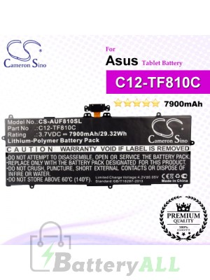 CS-AUF810SL For Asus Tablet Battery Model C12-TF810C