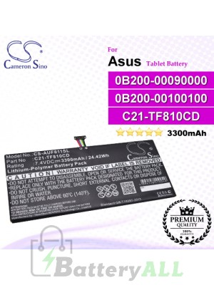 CS-AUF811SL For Asus Tablet Battery Model 0B200-00090000 / 0B200-00100100 / C21-TF810CD