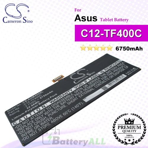 CS-AUM400SL For Asus Tablet Battery Model C12-TF400C