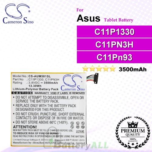 CS-AUM581SL For Asus Tablet Battery Model C11P1330 / C11PN3H / C11Pn93