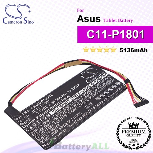 CS-AUP180SL For Asus Tablet Battery Model C11-P1801