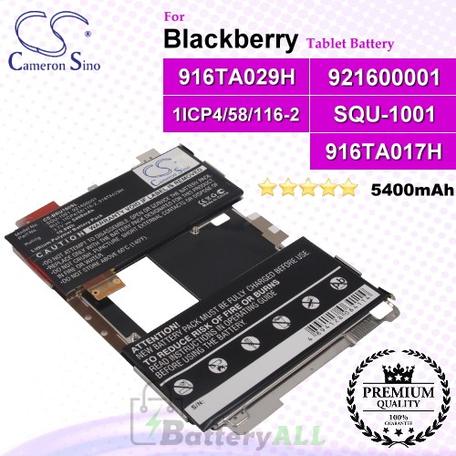 CS-BRU100SL For Blackberry Tablet Battery Model 1ICP4/58/116-2 / 916TA029H / 921600001 / RU1 / SQU-1001