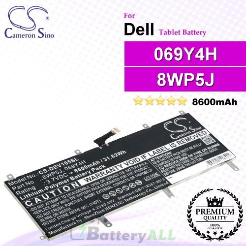 CS-DEV105SL For Dell Tablet Battery Model 069Y4H / 8WP5J
