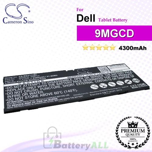 CS-DEV113SL For Dell Tablet Battery Model 9MGCD / XMFY3