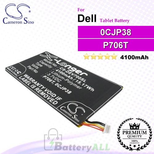 CS-DEV700SL For Dell Tablet Battery Model 0CJP38 / 0DHM0J / 0YMXOW / P706T