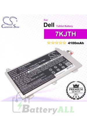 CS-DEV838SL For Dell Tablet Battery Model 7KJTH