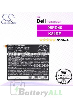 CS-DEV870SL For Dell Tablet Battery Model 05PD40 / K81RP / V87840-16D