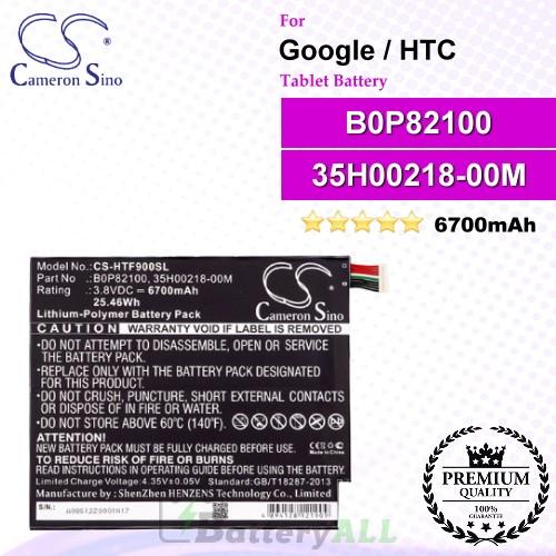 CS-HTF900SL For Google Tablet Battery Model B0P82100 / 35H00218-00M