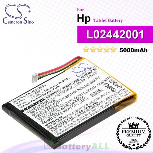 CS-HCQ720SL For HP Tablet Battery Model L02442001