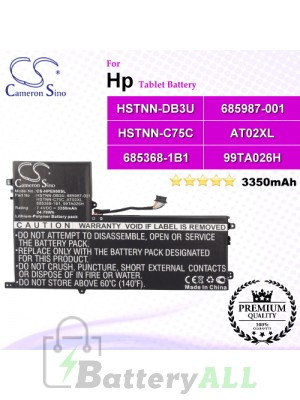 CS-HPE900SL For HP Tablet Battery Model 685368-1B1 / 685368-1C1 / 685987-001 / 99TA026H / AT02025XL / AT02XL / D3H85UT / D7X24PA / HSTNN-C75C / HSTNN-DB3U / HSTNN-IB3U