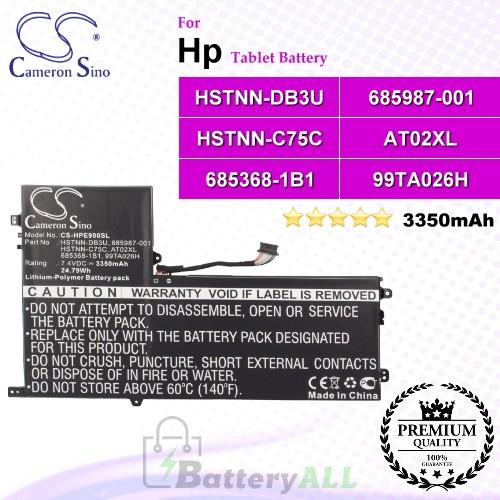 CS-HPE900SL For HP Tablet Battery Model 685368-1B1 / 685368-1C1 / 685987-001 / 99TA026H / AT02025XL / AT02XL / D3H85UT / D7X24PA / HSTNN-C75C / HSTNN-DB3U / HSTNN-IB3U