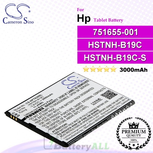 CS-HPT630SL For HP Tablet Battery Model 751655-001 / HSTNH-B19C / HSTNH-B19C-S