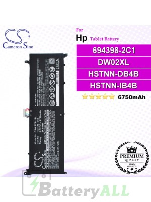 CS-HPX211SL For HP Tablet Battery Model 694398-2C1 / DW02XL / HSTNN-DB4B / HSTNN-IB4B