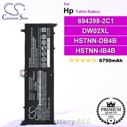 CS-HPX211SL For HP Tablet Battery Model 694398-2C1 / DW02XL / HSTNN-DB4B / HSTNN-IB4B