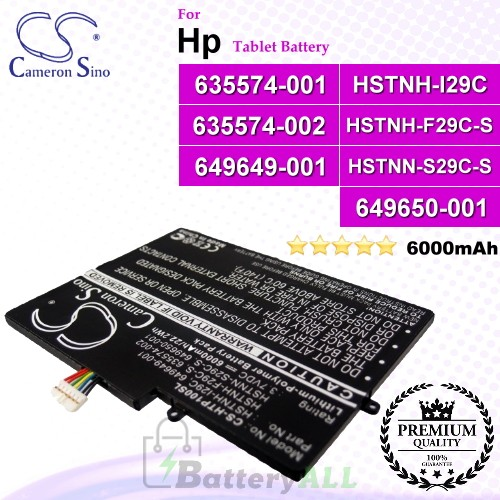 CS-HTP100SL For HP Tablet Battery Model 635574-001 / 635574-002 / 649649-001 / 649650-001 / HSTNH-F29C-S / HSTNH-I29C / HSTNN-S29C-S