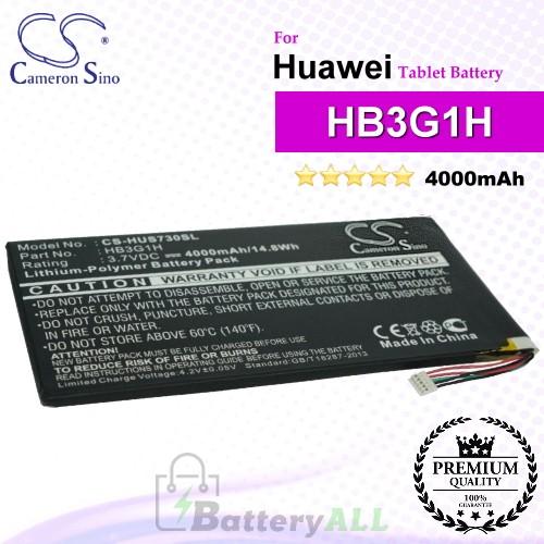 CS-HUS730SL For Huawei Tablet Battery Model HB3G1H