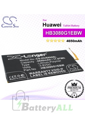 CS-HUS800SL For Huawei Tablet Battery Model HB3080G1EBC / HB3080G1EBW
