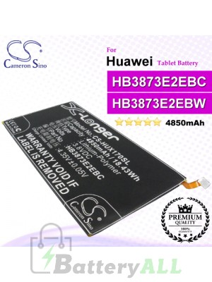 CS-HUX170SL For Huawei Tablet Battery Model HB3873E2EBC / HB3873E2EBW