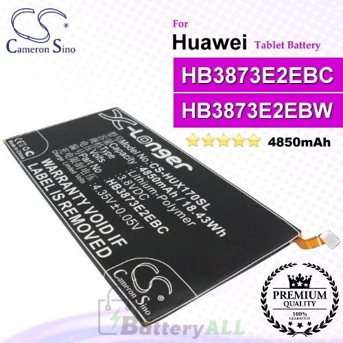 CS-HUX170SL For Huawei Tablet Battery Model HB3873E2EBC / HB3873E2EBW