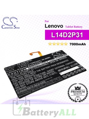 CS-LVA107SL For Lenovo Tablet Battery Model L14D2P31