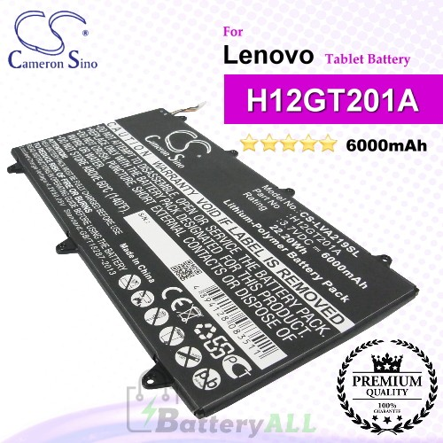 CS-LVA219SL For Lenovo Tablet Battery Model H12GT201A