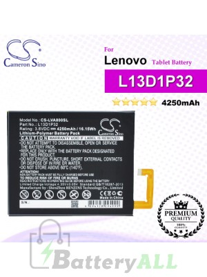 CS-LVA800SL For Lenovo Tablet Battery Model L13D1P32