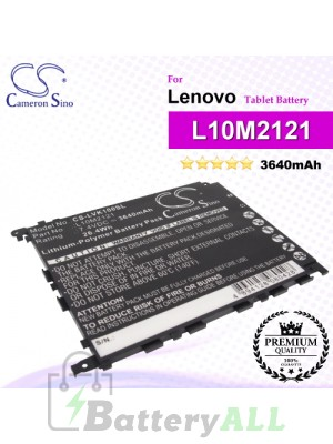 CS-LVK100SL For Lenovo Tablet Battery Model L10M2121
