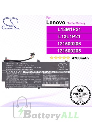 CS-LVM200SL For Lenovo Tablet Battery Model 121500205 / 121500206 / L13L1P21 / L13M1P21