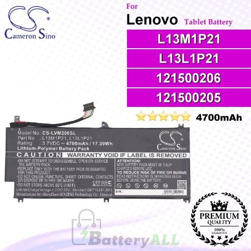 CS-LVM200SL For Lenovo Tablet Battery Model 121500205 / 121500206 / L13L1P21 / L13M1P21