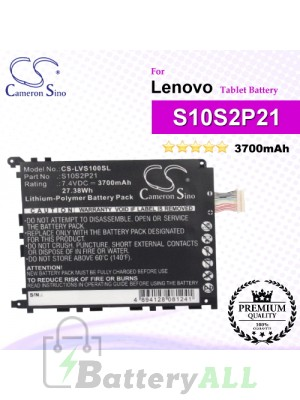 CS-LVS100SL For Lenovo Tablet Battery Model S10S2P21