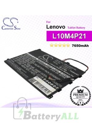 CS-LVS201SL For Lenovo Tablet Battery Model L10M4P21