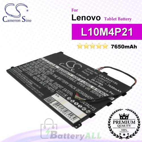 CS-LVS201SL For Lenovo Tablet Battery Model L10M4P21