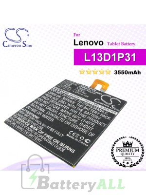 CS-LVS500SL For Lenovo Tablet Battery Model L13D1P31