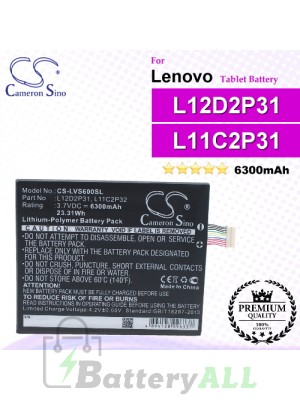 CS-LVS600SL For Lenovo Tablet Battery Model L11C2P31 / L11M2P31 / L12D2P31