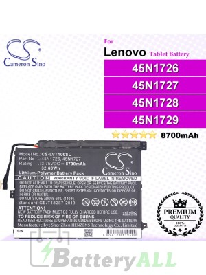 CS-LVT100SL For Lenovo Tablet Battery Model 1ICP4/82/114-2 / 1ICP4/83/113 / 45N1726 / 45N1727 / 45N1728 / 45N1729 / 45N1730 / 45N1731 / 45N1732 / 45N1733