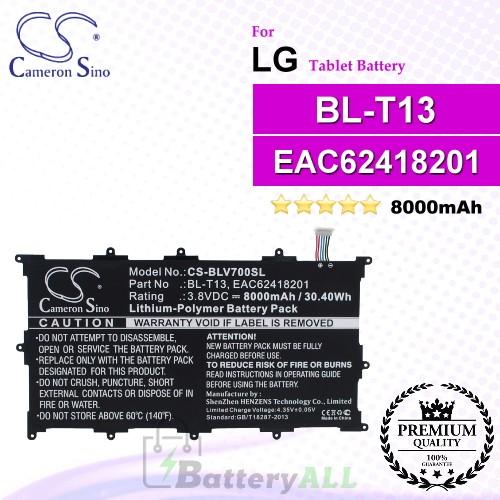 CS-BLV700SL For LG Tablet Battery Model BL-T13 / EAC62418201