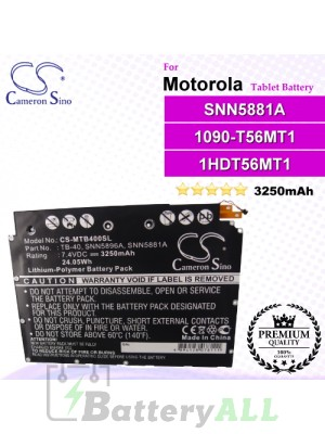 CS-MTB400SL For Motorola Tablet Battery Model SNN5881A
