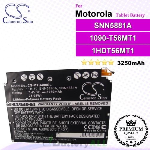 CS-MTB400SL For Motorola Tablet Battery Model SNN5881A