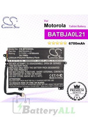 CS-MTX505SL For Motorola Tablet Battery Model BATBJA0L21